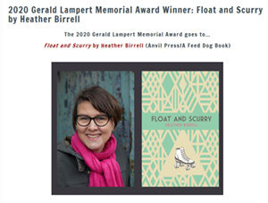 Heather Birrell Award Winner for Hope and FLoat